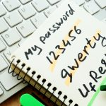 Password security, password management. A Weak and strong password.
